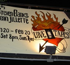 2005-02-12 Love Tapes @ Hwd Sacred Fools Thtr I was finally able to attend the Love Tapes play at Hollywood's Sacred Fools theatre on 2/12/05.  This wity, adult and clever play stars Dean Cameron and Julie Mullen in a story about the use of home video recordings to express affection to someone from af