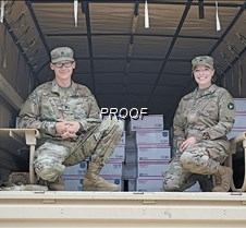 Soldiers with boxes