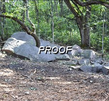 outcropping unseen until B removed