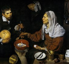 459Old Woman Frying Eggs- Diego Velazque