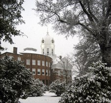 Courthouse in the snow