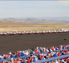 Reno Air Races 2010 - Snowbirds The 2010 Reno National Championship Air Races and Air Show took place September 15 thru the 19th at Reno Stead Airport in northern Nevada. A Show favorite, the Canadian Forces Snowbirds performed Friday, Saturday, and Sunday with their nine Canadair CT-114