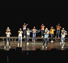 Womens choir pointing