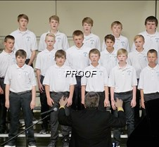 Eighth grade choir boys