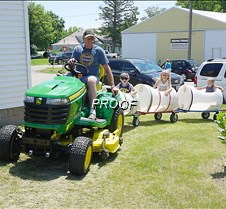 Lawn mower train