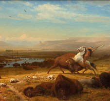 Last of the Buffalo – Albert Bierstadt –