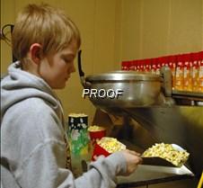 Daniel and popcorn