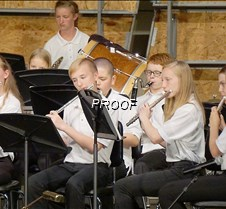 Eighth grade band flutes