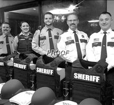 Sheriff's depart. with new vests