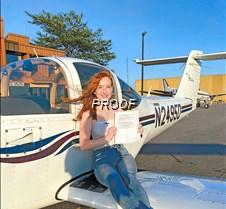 Eva Kimball pilots license