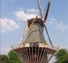 Windmill. Keukenhof Flower Park, Holland