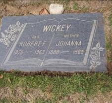 Johanna Bonk Wickey Grave