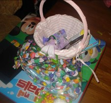 Grace Easter Basket After She Open It At
