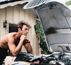 Clint Eastwood & '58 Jag XK 120, 1960