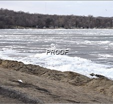 ice remains at beach area