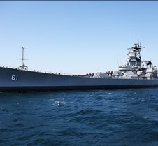 USS Iowa Battleship BB61 In Open Water