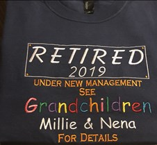 retired t shirt
