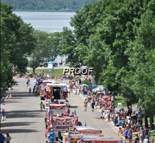 Parade route toward the lake