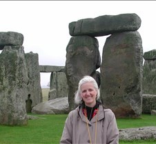 Joan at Stonehenge
