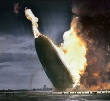 Hindenburg blimp crashes, 1937