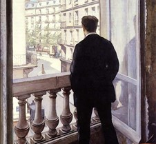 358Young Man at His Window-Gustave Caill