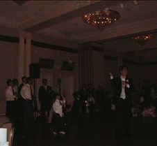 Ed about to throw garter