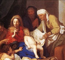 Copy of Holy Family with the Adoration o