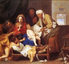 Holy Family with the Adoration of the Ch