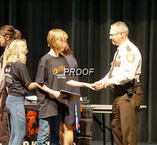Shaking hands with the sheriff