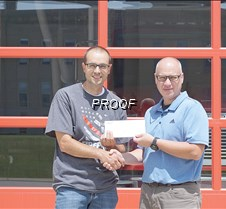 CenterPoint Energy fire hall donation