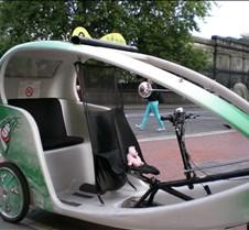 George driving Pedi-cab