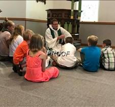 Pastor Buller giving Children's Sermon