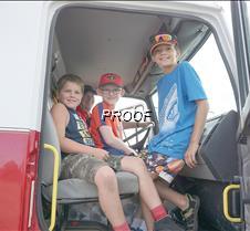 Sitting in a firetruck