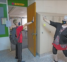 Air high five with Reber