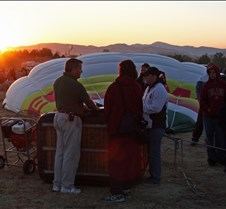 Balloon Preparation At Sunrise