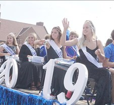 Homecoming court at parade
