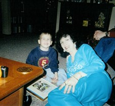 Jackson & Grandma checking his book