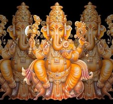 Ganesh chaturthi 2009 Our First Ganesh Chaturthi Celebrations in our New home (One year anniversary)