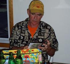 Joe opening presents