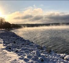 winter scene on Minnewaska