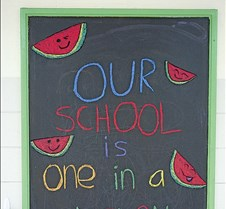 School is one in a melon