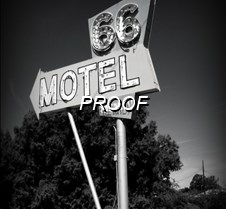 DSC03147 Route 66 Motel sign bw