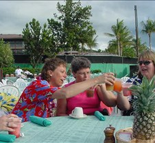 Luau Cheers with Laura, Terri and Karen