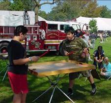 Dainan & Anthony play table hockey