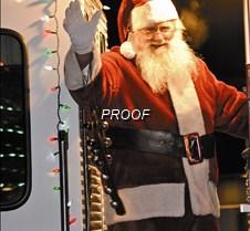 Santa visits parade