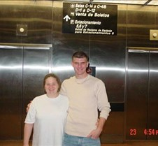 Patty & Eric at the Airport