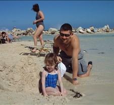 Rob and Caitlin on Cococay beach 3 20010