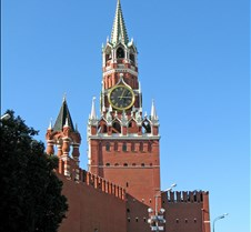 Kremlin Wall & Spasskaya Tower, Moscow