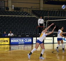 Emily's vollyeball game Emily's Sr. Year at St. Mary's University.