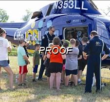 Life link chopper lands at Safety Camp